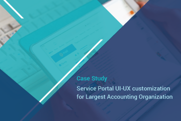Service Portal UI-UX customization for Largest Accounting Organization