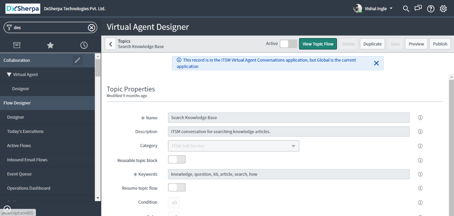 How to read the Docs - Virtual Agent