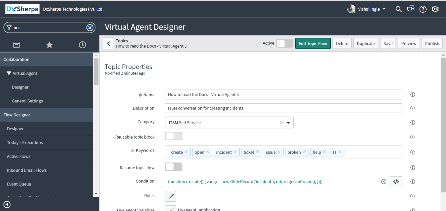 Add Topic Block to the Topic - How to read the Docs - Virtual Agent